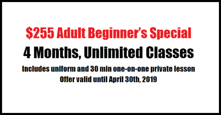 $255 Adult Introductory Offer